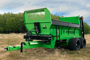 BioSpreader Manure Spreader has Better Maneuverability